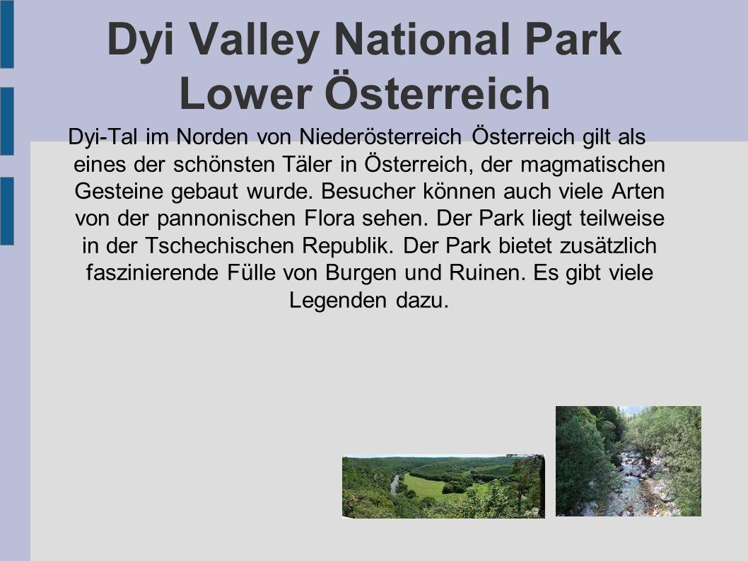 Dyi Valley National Park Lower Österreich Dyi-Tal im Norden von Niederösterreich Österreich gilt als eines der schönsten Täler in Österreich, der magm