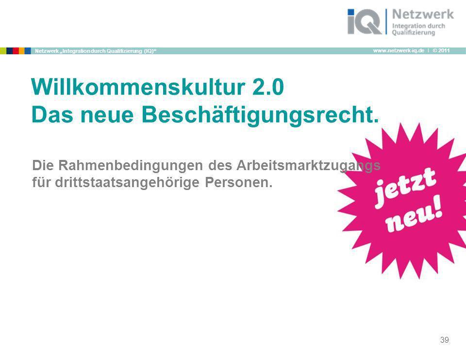 www.netzwerk-iq.de I © 2011 Netzwerk Integration durch Qualifizierung (IQ) Die Rahmenbedingungen des Arbeitsmarktzugangs für drittstaatsangehörige Per