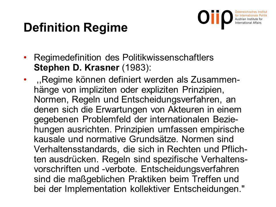 Definition Regime Regimedefinition des Politikwissenschaftlers Stephen D.