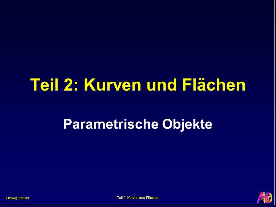Helwig Hauser Teil 2: Kurven und Flächen Parametrische Objekte
