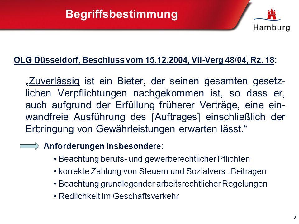 Begriffsbestimmung OLG Düsseldorf, Beschluss vom 15.12.2004, VII-Verg 48/04, Rz.