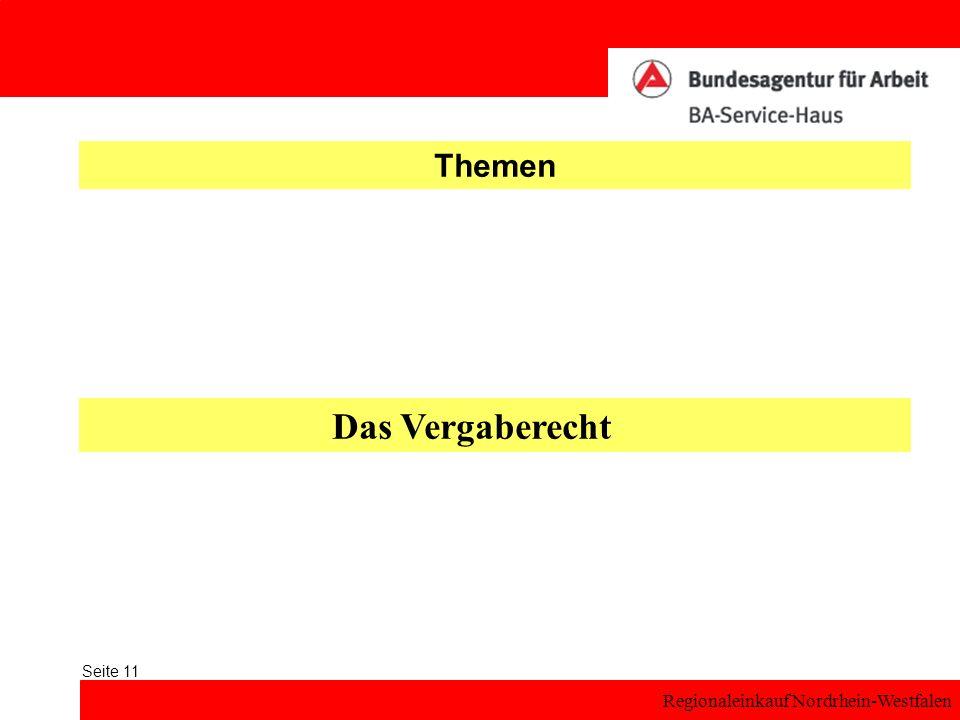Regionaleinkauf Nordrhein-Westfalen Seite 11 Themen Das Vergaberecht