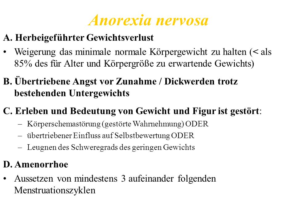 Anorexia nervosa A.