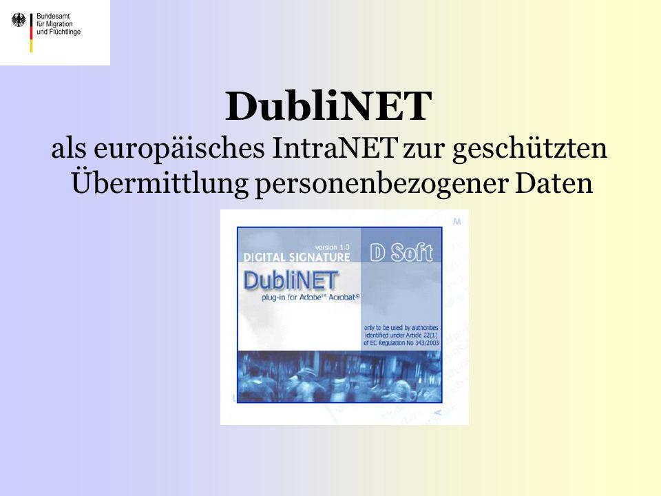 DubliNET als europäisches IntraNET zur geschützten Übermittlung personenbezogener Daten