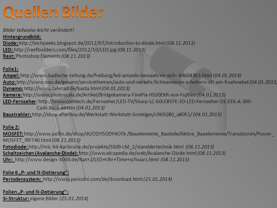 Bilder teilweise leicht verändert! Hintergrundbild: Diode: http://techpeeks.blogspot.de/2012/07/introduction-to-diode.html (08.11.2013) LED: http://re
