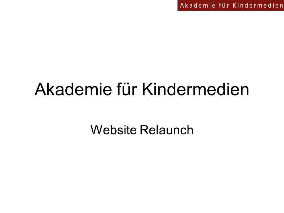 Akademie für Kindermedien Website Relaunch