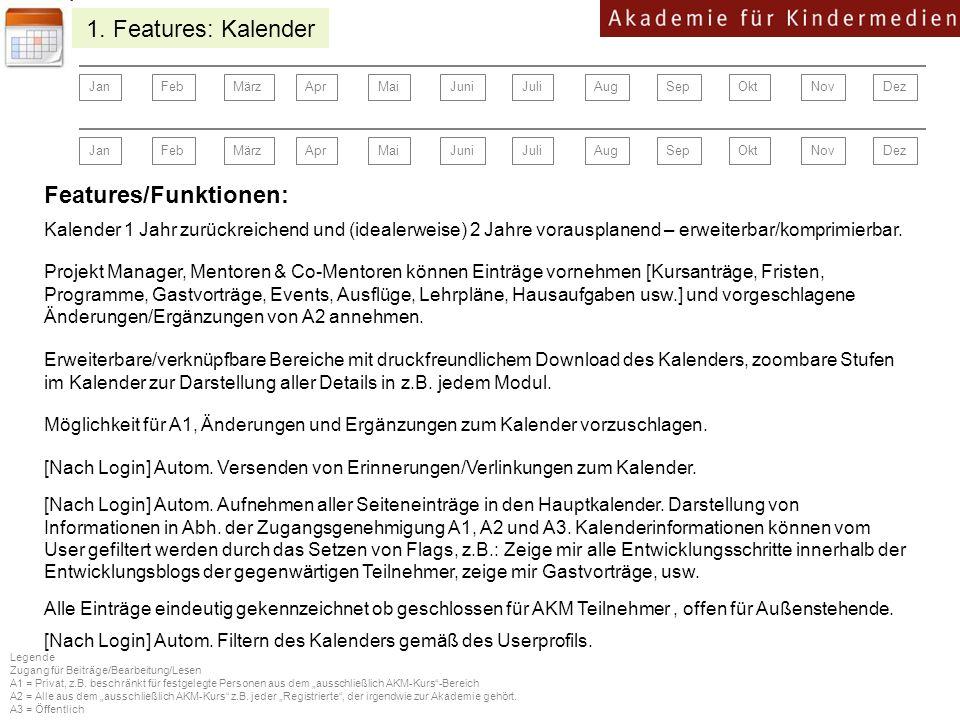 Features/Funktionen: [Nach Login] Autom.Aufnehmen aller Seiteneinträge in den Hauptkalender.