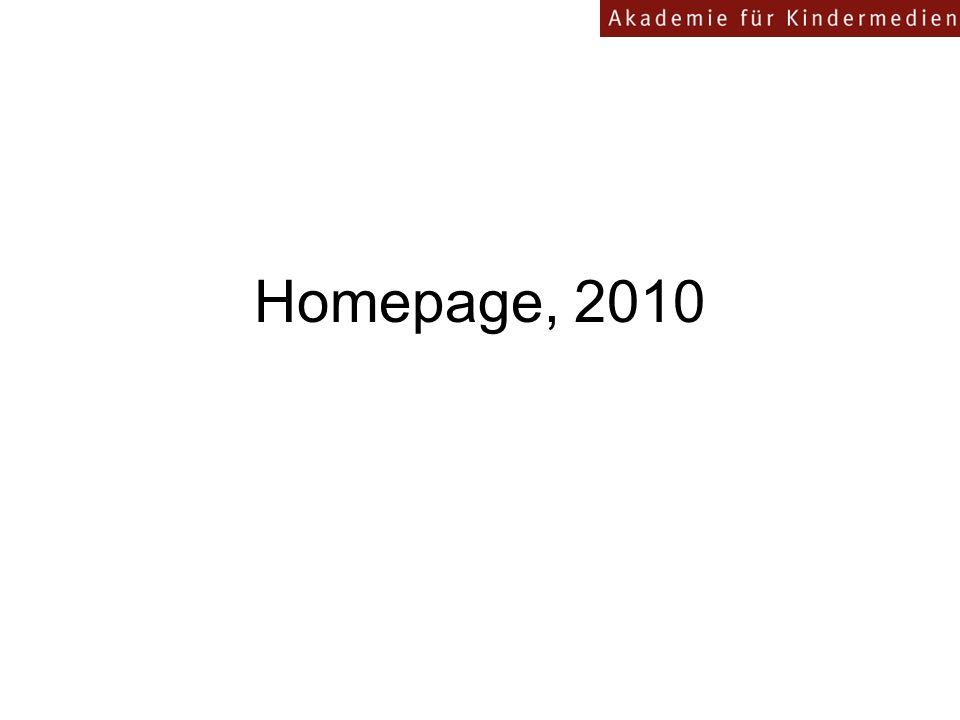 Homepage, 2010