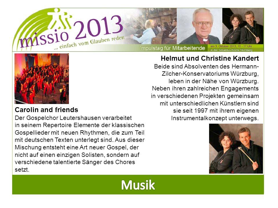 Carolin and friends Der Gospelchor Leutershausen verarbeitet in seinem Repertoire Elemente der klassischen Gospellieder mit neuen Rhythmen, die zum Teil mit deutschen Texten unterlegt sind.