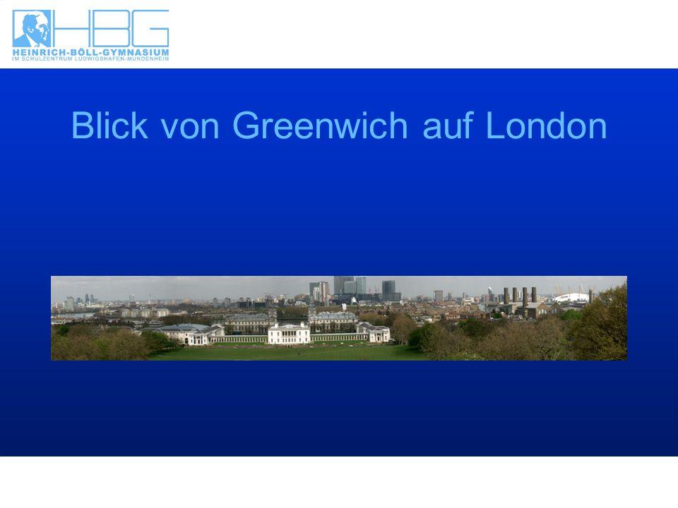 Blick von Greenwich auf London