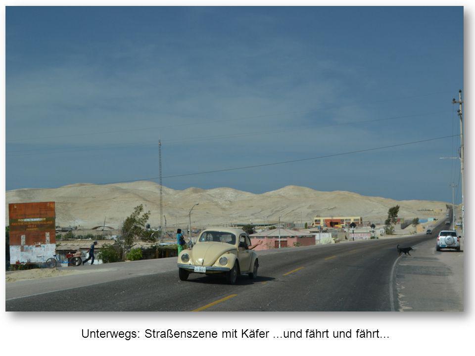 Unterwegs: Straßenszene mit Käfer...und fährt und fährt...
