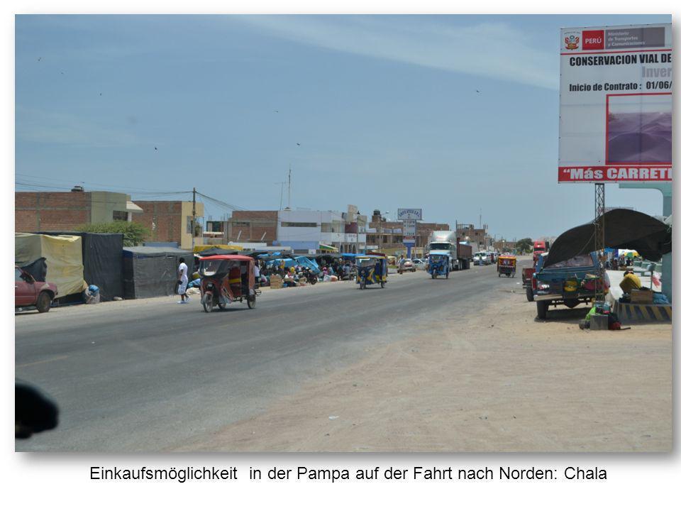 Einkaufsmöglichkeit in der Pampa auf der Fahrt nach Norden: Chala
