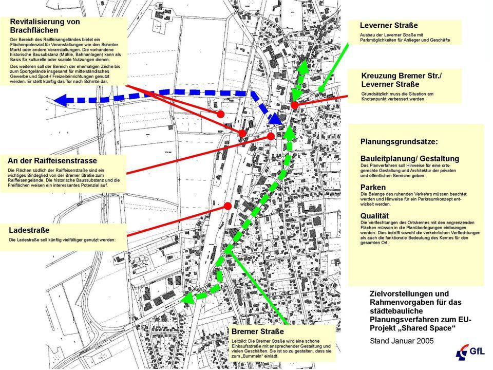 Bremer Straße lädt zum Bummeln ein! Radweg zur Mittelanbindung Kreuzungen Leverner Straße/Am Schwaken Hofe werden attraktiv und sicher Bremer Straße i