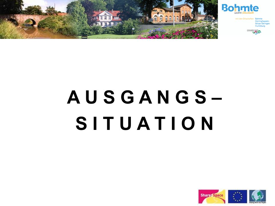 1. Ausgangssituation in Bohmte vor Shared Space 2.Prozessstrukturen 3.Finanzen