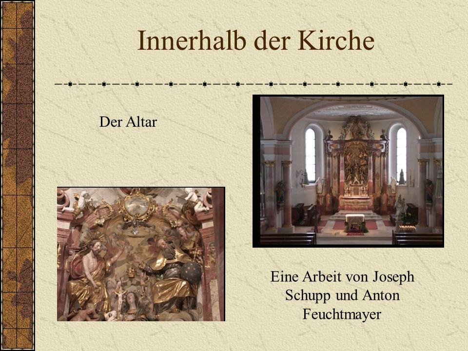 Innerhalb der Kirche Der Altar Eine Arbeit von Joseph Schupp und Anton Feuchtmayer