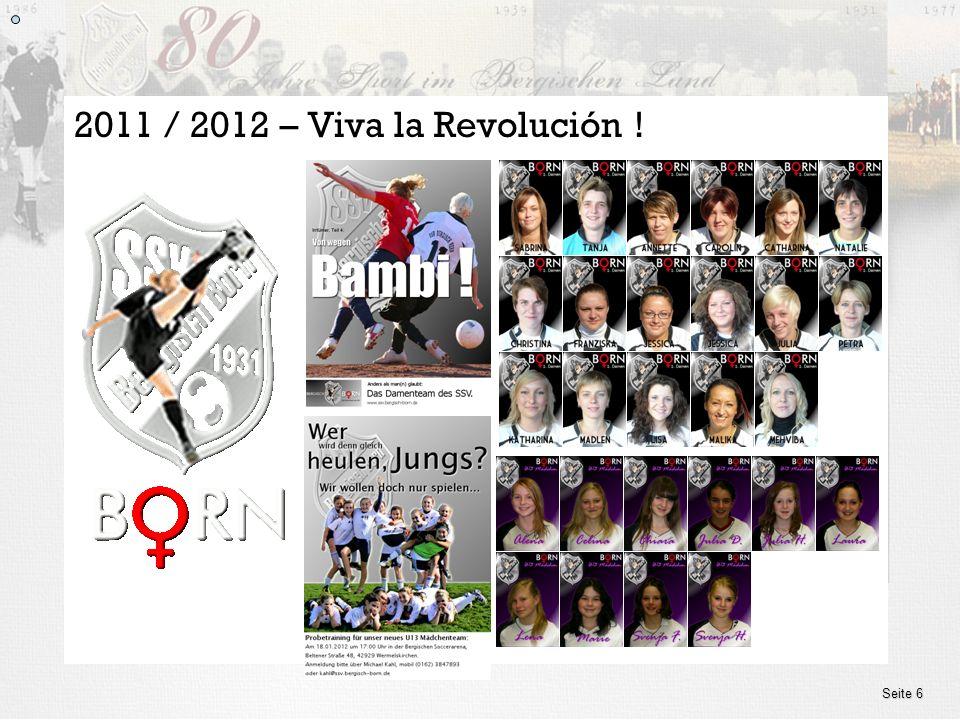 www.ssv.bergisch-born.de Seite 6 2011 / 2012 – Viva la Revolución !