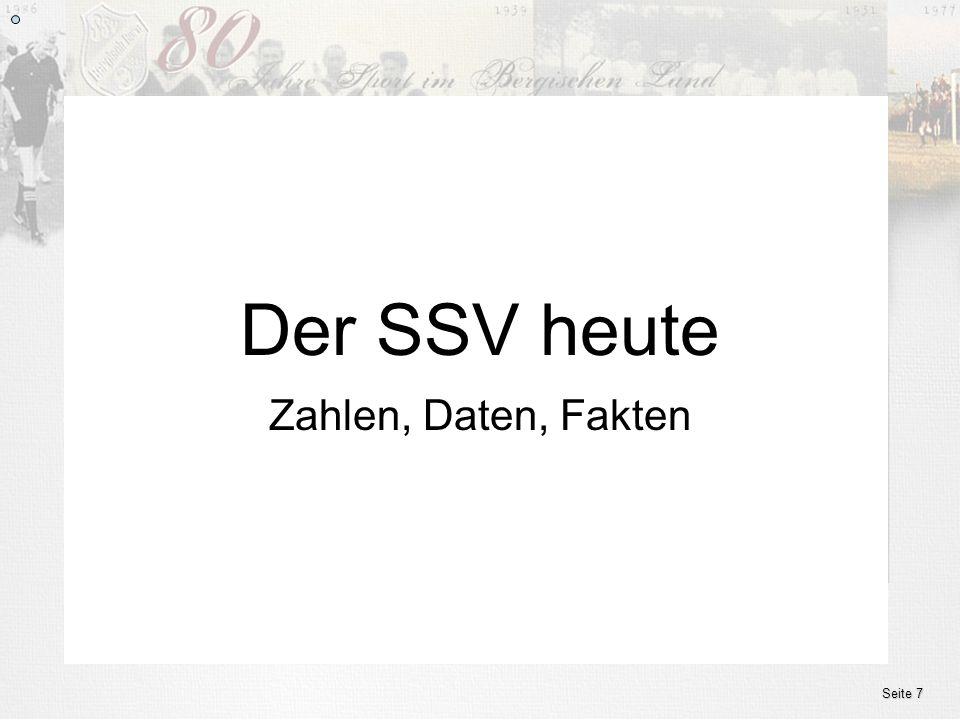www.ssv.bergisch-born.de Zahlen, Daten, Fakten Der SSV heute Seite 7