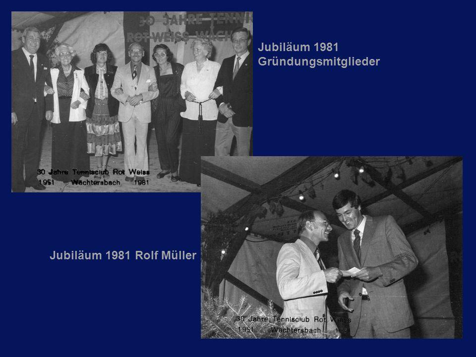 Jubiläum 1981 Gründungsmitglieder Jubiläum 1981 Rolf Müller