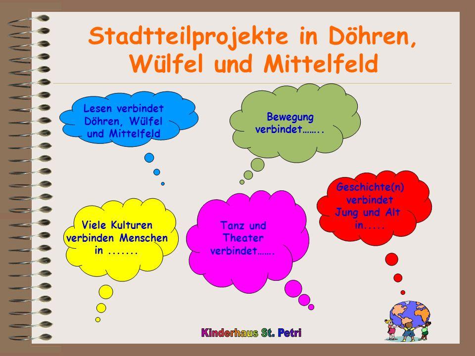 Lesen verbindet Döhren, Wülfel und Mittelfeld Viele Kulturen verbinden Menschen in.......