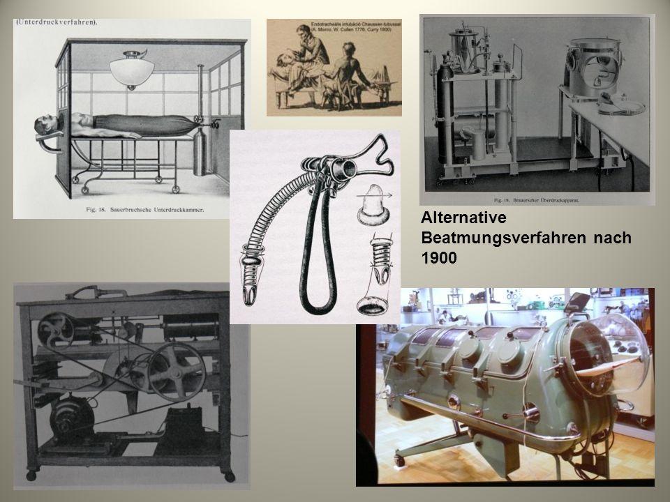 Alternative Beatmungsverfahren nach 1900