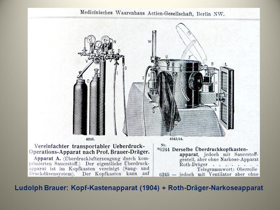 Ludolph Brauer: Kopf-Kastenapparat (1904) + Roth-Dräger-Narkoseapparat