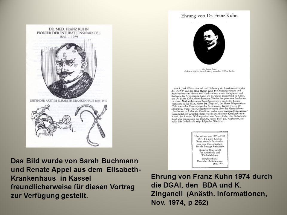 Das Bild wurde von Sarah Buchmann und Renate Appel aus dem Elisabeth- Krankenhaus in Kassel freundlicherweise für diesen Vortrag zur Verfügung gestell
