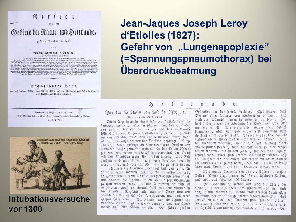 F.Kuhn: Portative Überdruckapparate: weiche Kammer und Injektorintubation ( Zbl.