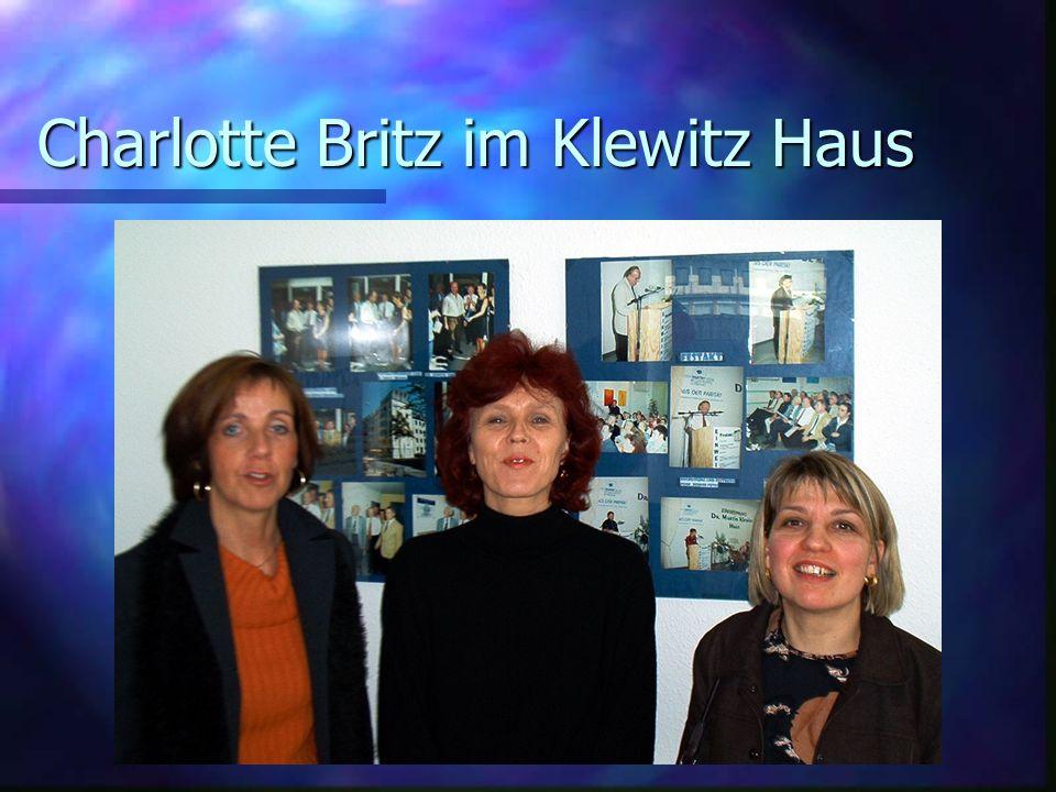 Charlotte Britz im Klewitz Haus