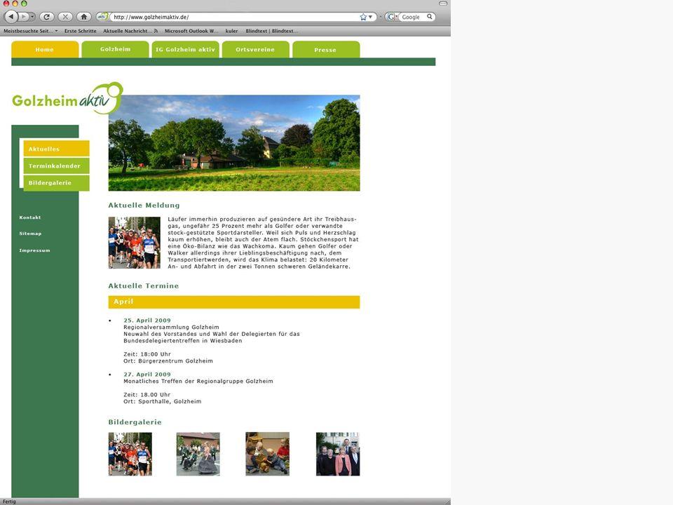 Ortsmarketing Entwicklung einer Internetseite