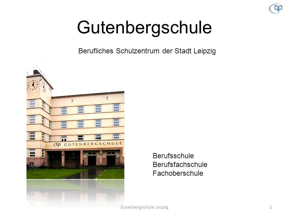 Gutenbergschule Berufliches Schulzentrum der Stadt Leipzig Berufsschule Berufsfachschule Fachoberschule 2Gutenbergschule Leipzig