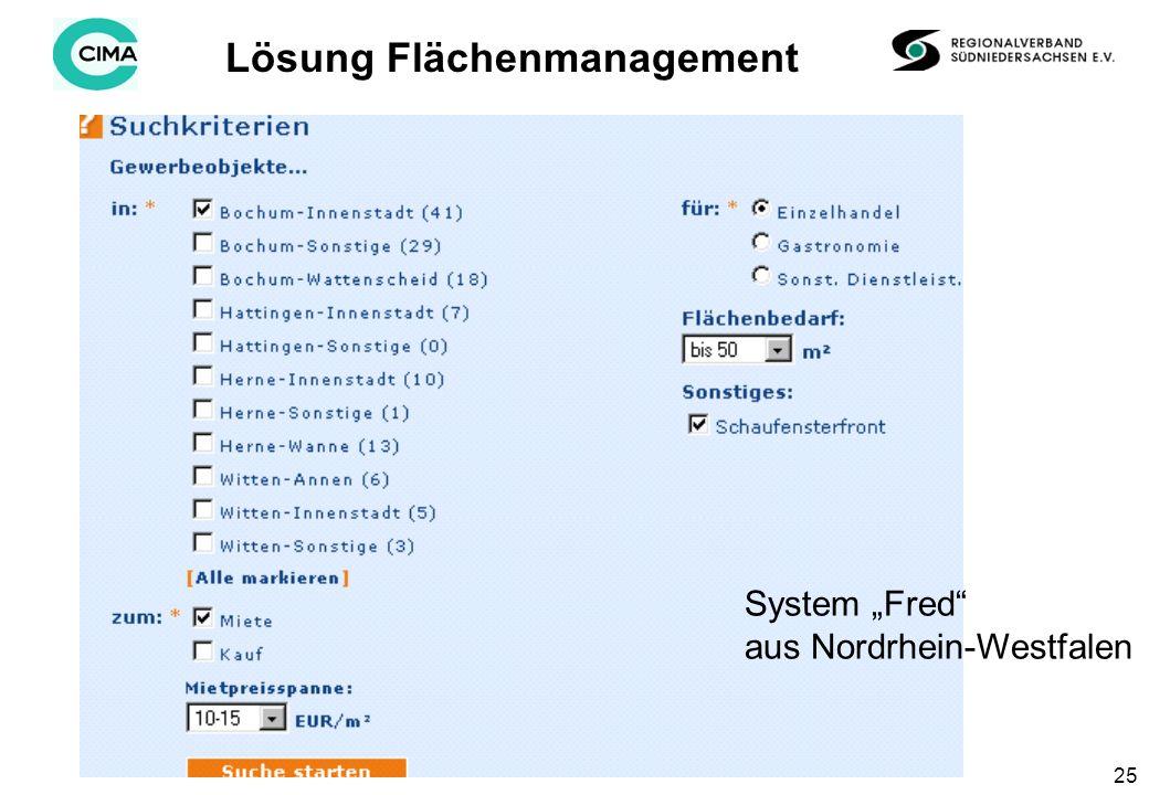 25 Lösung Flächenmanagement System Fred aus Nordrhein-Westfalen