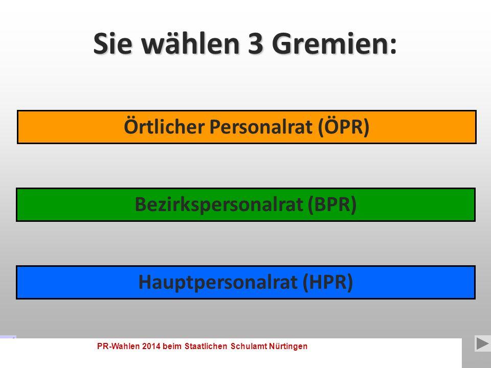 PR-Wahlen 2014 beim Staatlichen Schulamt Nürtingen 2 Diese Präsentation soll den Ablauf der Wahl und die Wahlgrundsätze erklären, mögliche Fehlerquellen aufzeigen und Mut zum Wählen machen.