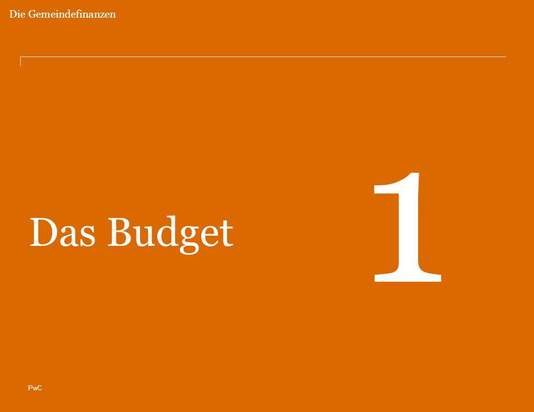PwC Das Budget 1 Die Gemeindefinanzen
