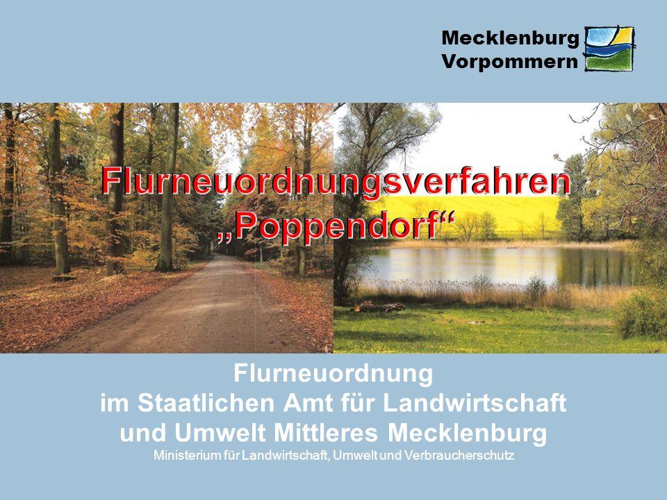 Mecklenburg Vorpommern Flurneuordnung im Staatlichen Amt für Landwirtschaft und Umwelt Mittleres Mecklenburg Ministerium für Landwirtschaft, Umwelt un