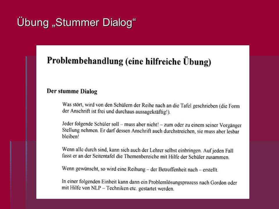 Übung Stummer Dialog