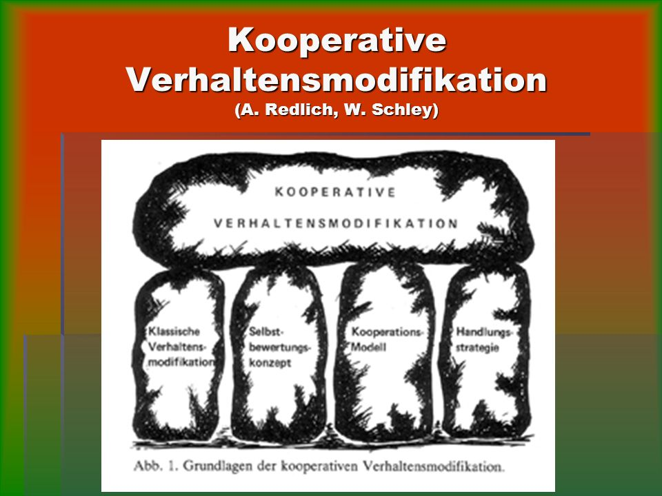 Kooperative Verhaltensmodifikation (A. Redlich, W. Schley)