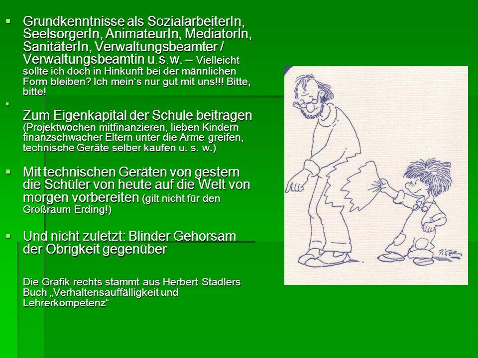 Grundkenntnisse als SozialarbeiterIn, SeelsorgerIn, AnimateurIn, MediatorIn, SanitäterIn, Verwaltungsbeamter / Verwaltungsbeamtin u.s.w. – Vielleicht