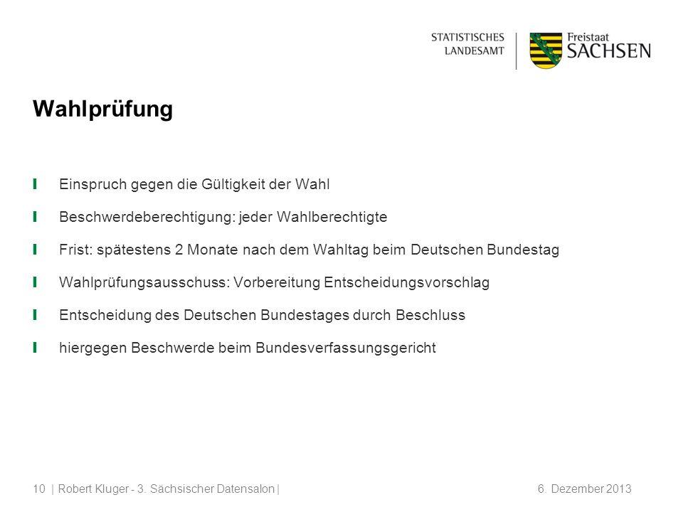 | Robert Kluger - 3.Sächsischer Datensalon | 6.