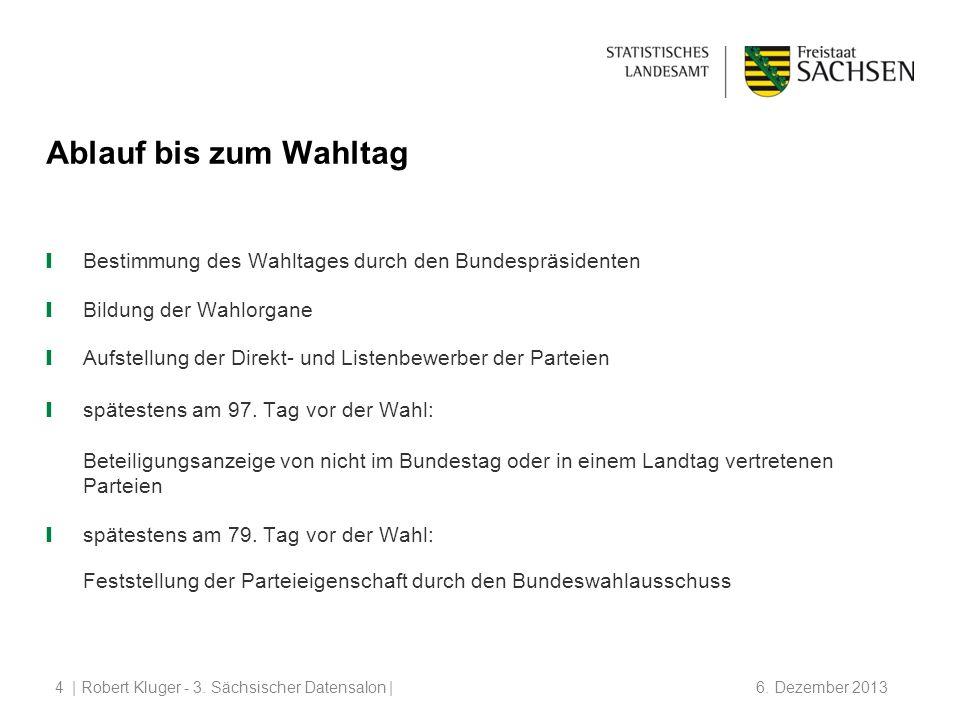 | Robert Kluger - 3.Sächsischer Datensalon | 6. Dezember 20135 spätestens bis zum 69.
