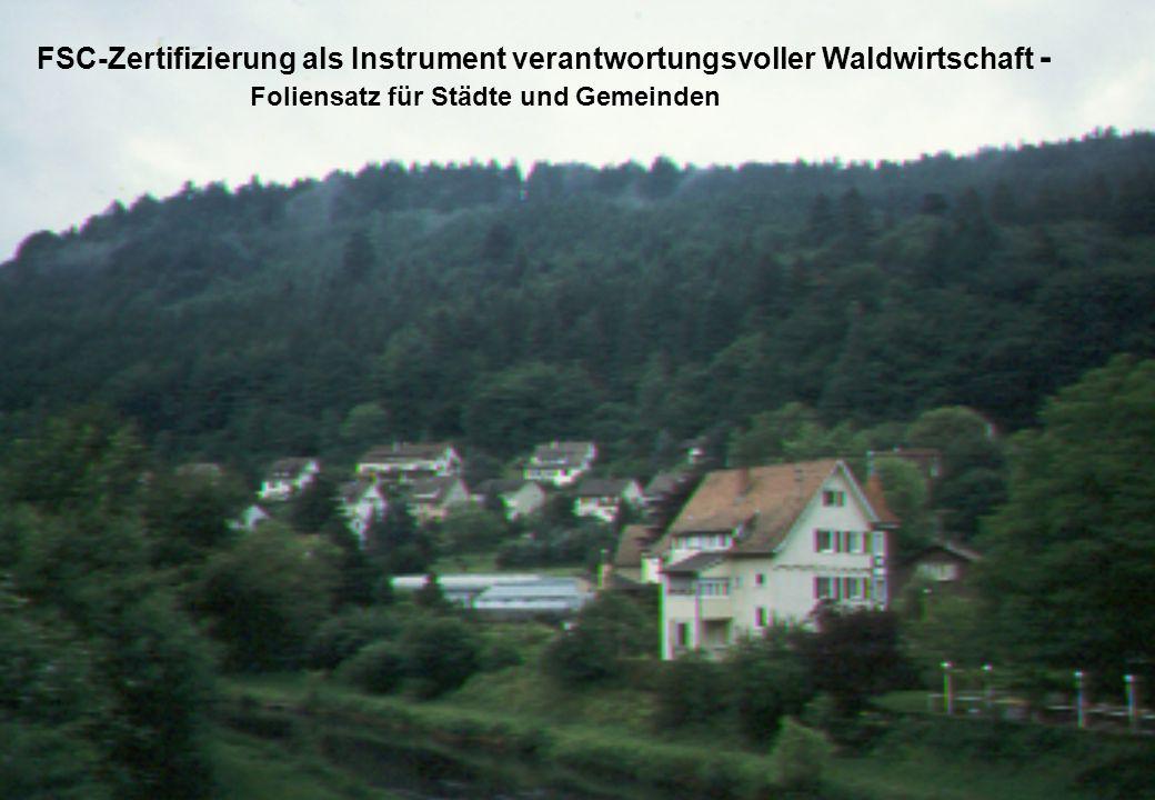 FSC-Zertifizierung als Instrument verantwortungsvoller Waldwirtschaft - Foliensatz für Städte und Gemeinden