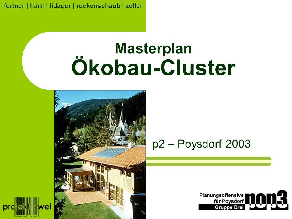 Masterplan Ökobau-Cluster p2 – Poysdorf 2003 fertner | hartl | lidauer | rockenschaub | zeller