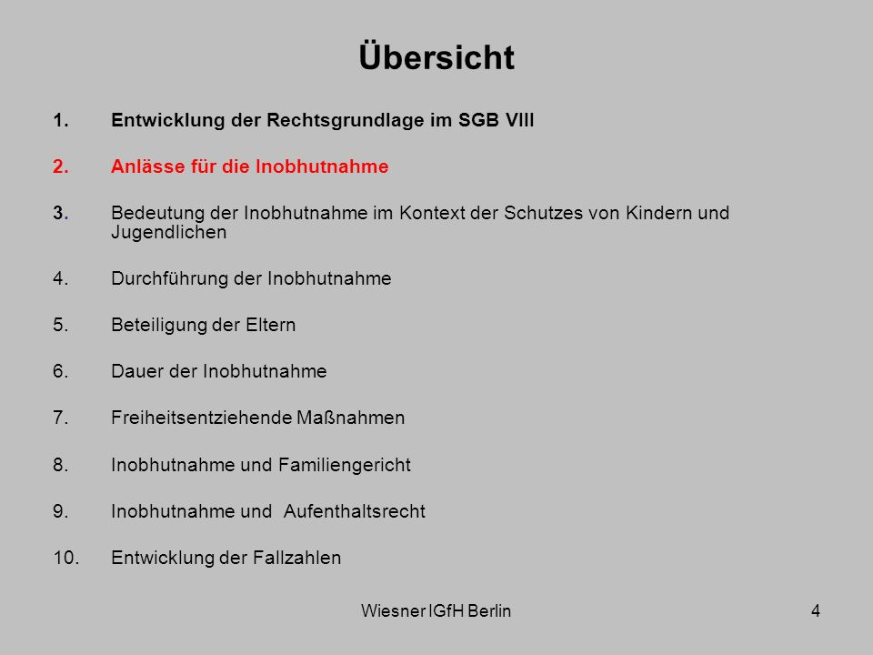 Wiesner IGfH Berlin5 Anlässe für die Inobhutnahme (§ 42 Abs.