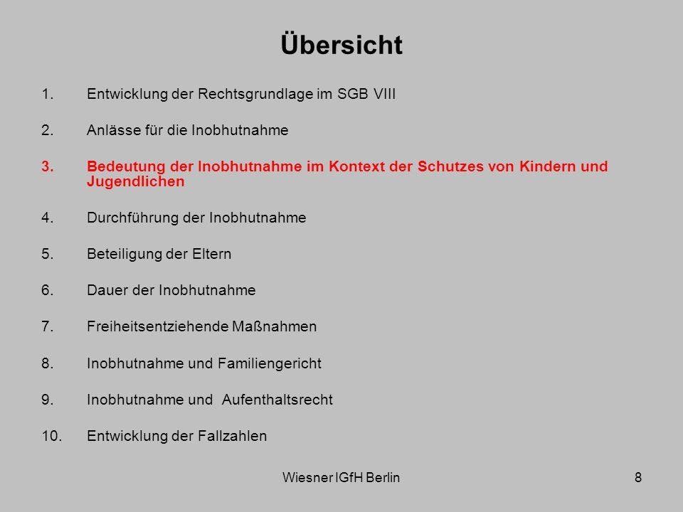 Wiesner IGfH Berlin9 Inobhutnahme als Instrument zur Abwendung einer akuten Kindeswohlgefährdung Konkretisierung der staatlichen Schutzpflicht nach Art.