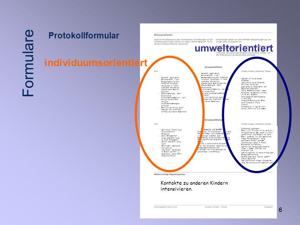 17 Förderplanung mit der Interdisziplinären Schülerdokumentation ISD www.pulsmesser.ch/isd