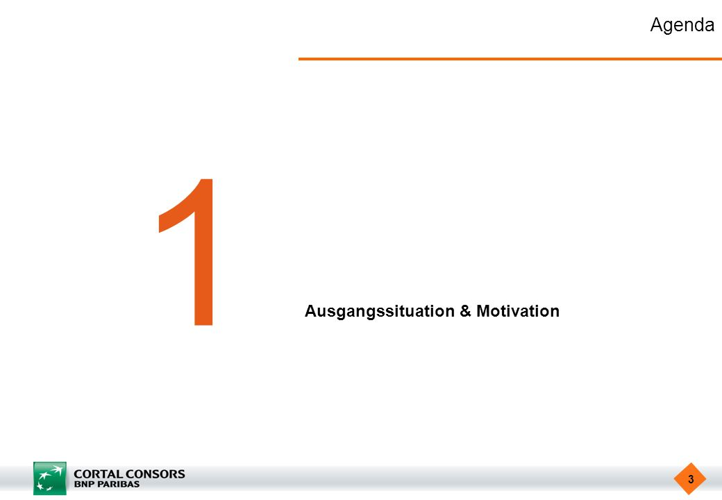 3 Agenda 1 Ausgangssituation & Motivation
