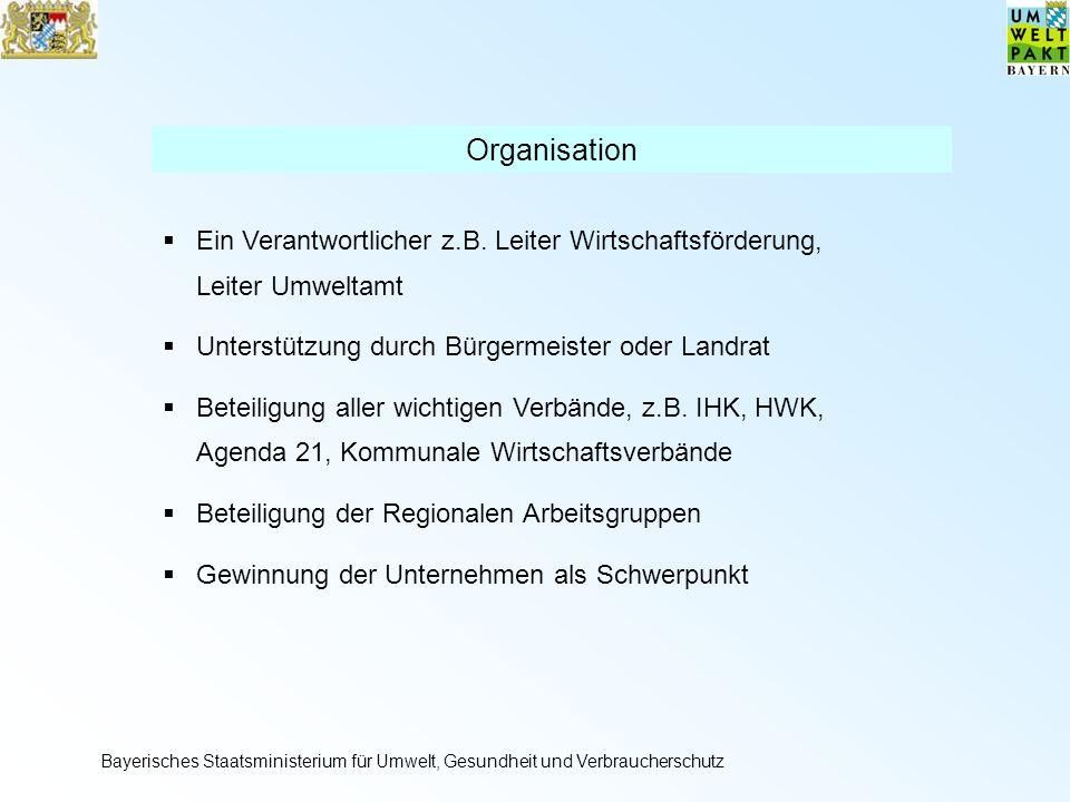 Organisation Ein Verantwortlicher z.B.