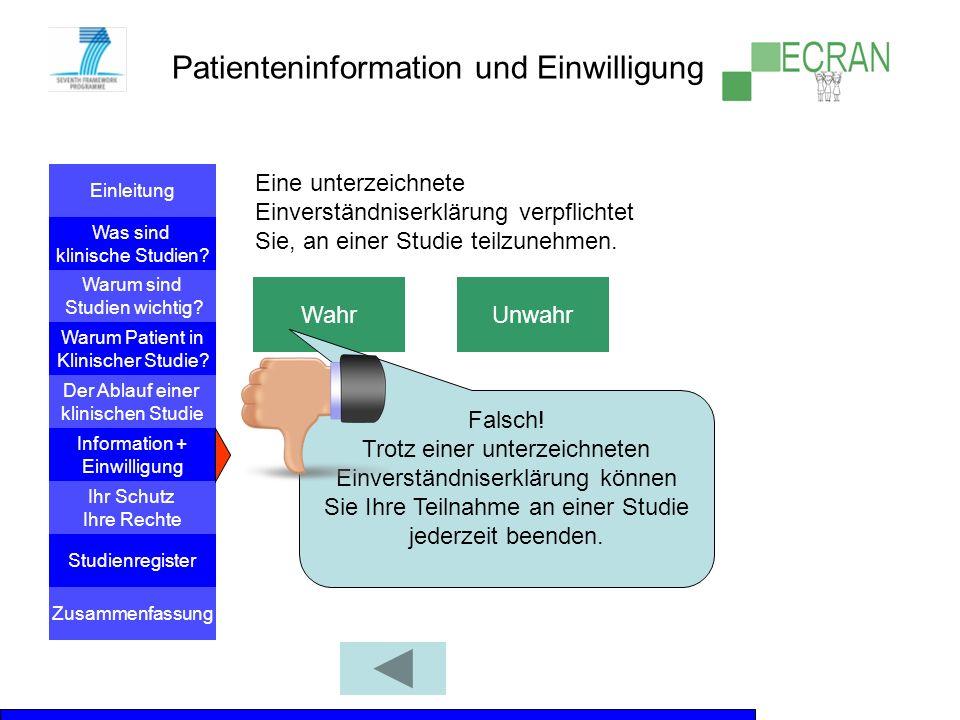 Einleitung Was sind klinische Studien? Warum sind Studien wichtig? Der Ablauf einer klinischen Studie Information + Einwilligung Warum Patient in Klin