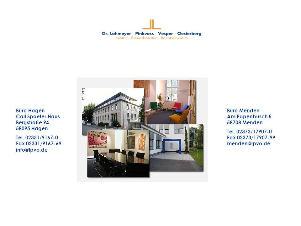 Büro Hagen Carl Spaeter Haus Bergstraße 94 58095 Hagen Tel.