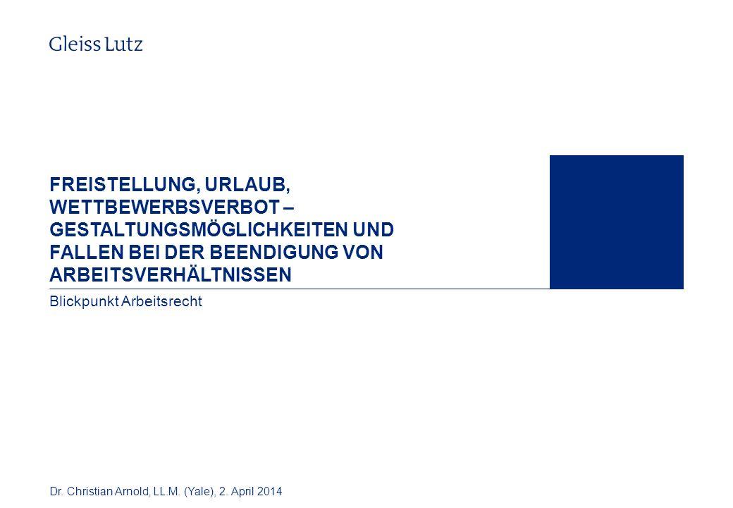32 Gestaltungsmöglichkeiten Gesetzliches Wettbewerbsverbot BAG vom 17.10.2012 – 10 AZR 809/11, NZA 2013, 207 ff.
