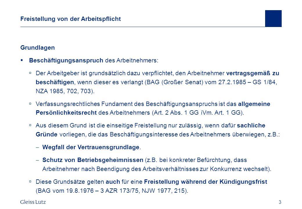 24 Gestaltungsmöglichkeiten Anrechnung anderweitigen Verdienstes BAG vom 6.9.2006 – 5 AZR 703/05, NZA 2007, 36 ff.